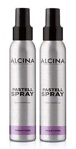 2er Pastell Spray ohne Ausspülen Alcina Professional Violet Irise je 100 ml = 200 ml (Spray Violett Haar)