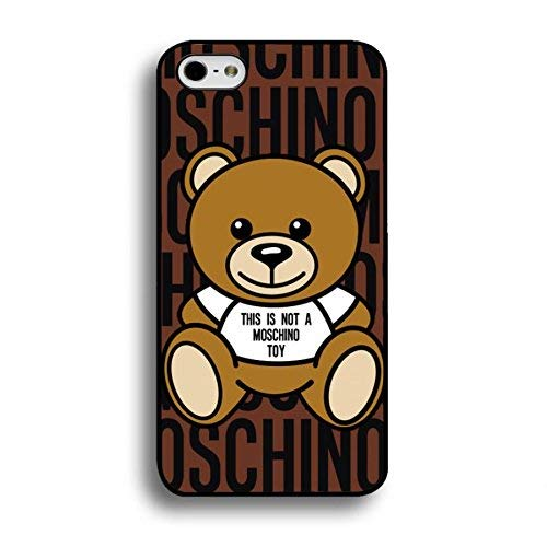 BILMARY AGUILA DIY Fashion Custom Silicone Phone case Cover case - [TPU/Silicone Soft case] - for iPhone 5/5s/SE Phone Cases (Moschino 5 Iphone)