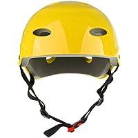 SGerste Casco deportivo para kayak, canoa, 3 tamaños disponibles: niños, jóvenes, adultos, todos los tamaños a elegir, color amarillo, Small