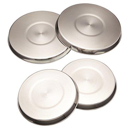 Kitchen Craft Herdabdeckplatten, Edelstahl, 4er-Set
