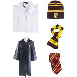 thematys® Set Completo de Harry Potter Gryffindor Capa (Size XL) - Conjunto de Disfraces para Hombres Mujeres Carnaval, Halloween y Cosplay