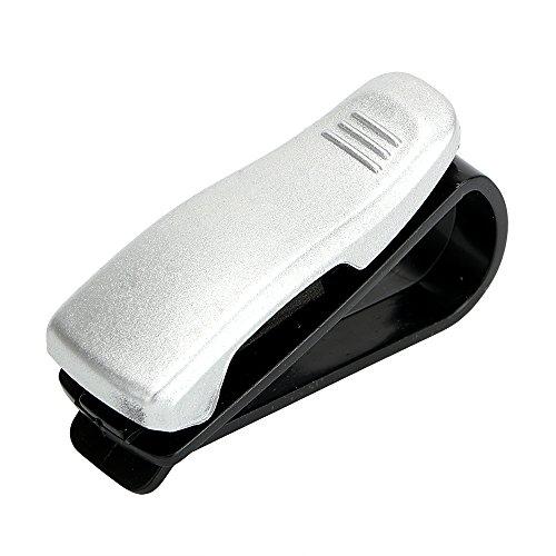 itimo Brillen Clip Auto Sonnenschutz Visier Sonnenbrille Halterung Auto Gläser Fällen Verschluss CIP tragbar Ticket Karte Klemme Auto Styling ABS (Silber)