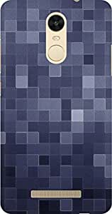 AMEZ designer printed 3d premium high quality back case cover for Xiaomi Redmi Note 3 (abstract square tiles pattern)