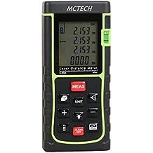 MCTECH Lasermessgeräte Distanzmesser Distanzmessgerät Tragbarer Laser Entfernungsmessgerät Entfernungsmesser Digital Laser E Type Messbereich +/- 2mm (40M)
