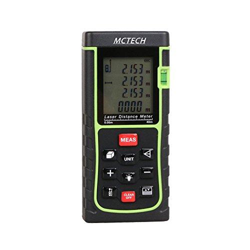 MCTECH Lasermessgeräte Distanzmesser Distanzmessgerät Tragbarer Laser Entfernungsmessgerät Entfernungsmesser Digital Laser E Type Messbereich +/- 2mm (40M) -