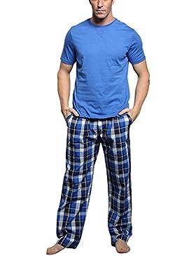 Dolamen Pijamas para Hombre Algodón, 2018 Hombre Pantalones de Pijama Largos Primavera Suave y Suave, Hombre Camisones...