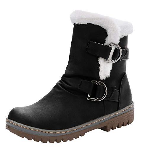 Winterschuhe Damen Winterstiefel Xinantime Schuhe Mädchen Low Heel Stiefel Schnürung Ankle Boot Schuhe Kurze Stiefel Komfortable Rutschfeste Schule 35-43