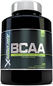 BCAA Tablet 1000mg - 425 Tablets - 3000mg Daily Serving - 141 Day Supply - 2:1:1 Branch Chain Amino Acids Supplement Tablets (Not Capsules) With Added Vitamin B6 - UK Manufactured BCAA's - Ingredients Include L-Leucine, L-Isoleucine, L-Valine and Vitamin B6 by Xellerate Nutrition