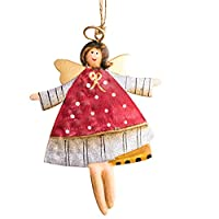 LEEDY Vintage Old Christmas Wrought Iron Pendant, Xmas Decor Baubles Pendant Ornament Decorations Accessories