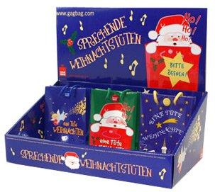 GagBag Sprechende Tüte Eine Tüte Weihnachten (Geschenktüte Weihnachtstüte) (Blau-Bunt)
