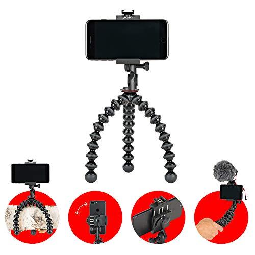 JOBY GripTight GorillaPod PRO 2 Supporto Telefono Universale/Treppiede Professionale Flessibile per Smartphone e iPhone, JB01551-BWW