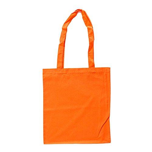 Stoffbeutel aus Baumwolle mit langen Henkeln Orange
