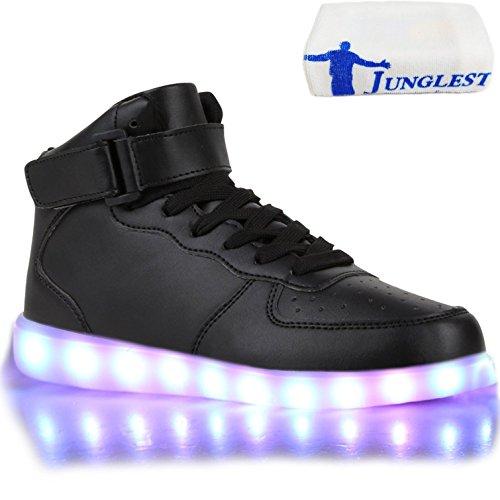 [+Kleines Handtuch]Kinderschuhe USB Lade Licht Jungen emittierende Schuhmädchenschuh leuchtende LED beleuchtete Sportschuhe großer Junge Sc c32