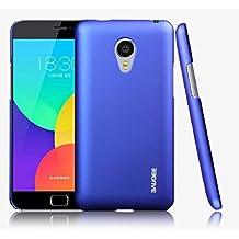 Prevoa ® 丨 Meizu MX4 PRO Funda - Pl¨¢stico Duro Funda Cover Case para Meizu MX4 PRO 5.5 Pulgadas Smartphone + Protector de Pantalla - Azul Oscuro