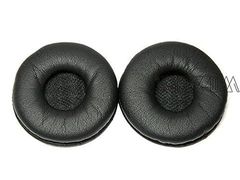 WEWOM 2 coussinets de remplacement pour casques Koss Porta Pro (PP) et Samsung SBH500 Headset, cuir synthétique