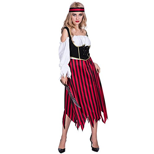 YouN Halloween Costume Masquerade Pirates Women Adult Fancy Party Cosplay Dress
