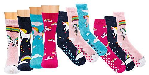 TippTexx 24 6 Paar Kinder Thermo Stoppersocken, ABS Socken für Mädchen und Jungen, Ökotex...