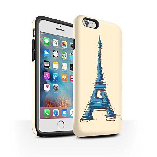 STUFF4 Glanz Harten Stoßfest Hülle / Case für Apple iPhone 6+/Plus 5.5 / Kolosseum / Rom Muster / Wahrzeichen Kollektion Eiffel Turm / Paris