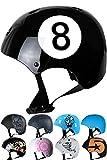 Skullcap BMX Helm - Skaterhelm - Fahrradhelm - Herren | Damen | Jungs & Kinderhelm Gr. S (53 – 55 cm), Black-8 NextLevel