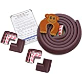 Amazara Baby Proofing Edge and Corner Guards | 6. 5Ft Edge + 4 Pre-Taped Corner Protectors | Child Safety Furniture Cushions | Brown