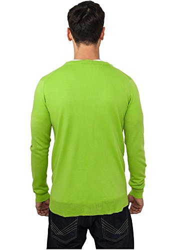 Urban Classics Herren Pullover Knitted Cardigan Limegreen