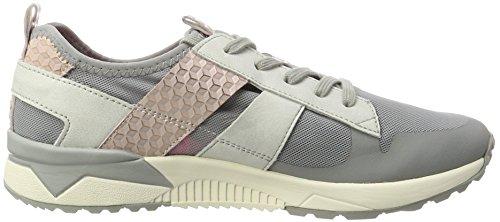Tamaris 23701, Low-Top Sneaker donna Grigio (STONE/ROSE 216)