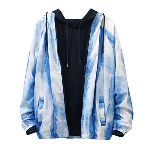 Wasserdichte Herren Jacke Print Schnelltrocknend Zusammenfaltbare Regenjacke Windjacke Kapuze Tragebeutel Camping Outdoor, Frühling Fleece-print-sweatshirt