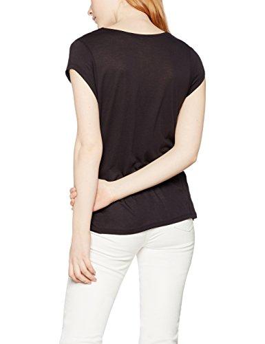 FIND T-shirt Drapé Femme Noir (Black)