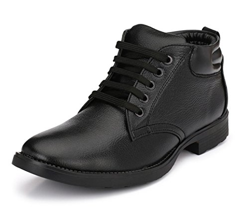Mactree Men's Black Genuine Leather Boots (2805black_8)
