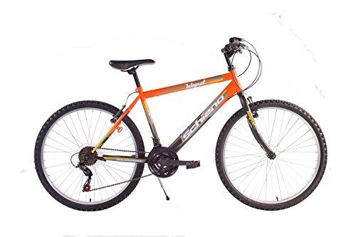 F.lli Schiano Integral Cambio Power 18V Bicicletta, Arancione/Nero, 24