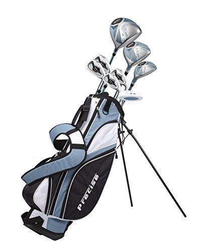 Präzise nx460Damen Golfschläger Komplettset inkl. Driver, Fairway, Hybrid, 4Eisen, Putter, Tasche, 3H/C 's-2Größen-Regular und Petite Größe, violett