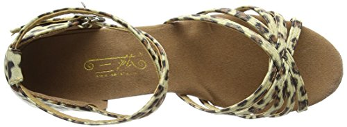 Freefisher Chaussures a talons hauts Sandales Danse Latine léopard