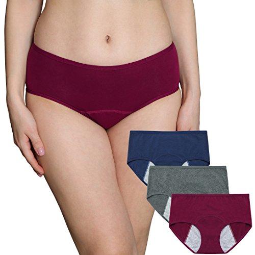 INNERSY Femme Culottes menstruelles Taille Basse Culottes Post-Partum Élastique Anti-fuites...