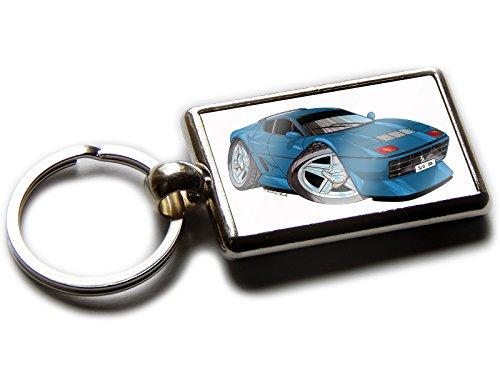 Ferrari 512BB Classic Sports Auto OFFIZIELLER Koolart Qualität Chrom Schlüsselanhänger Bild beiden Seiten wählen Sie eine Farbe., blau