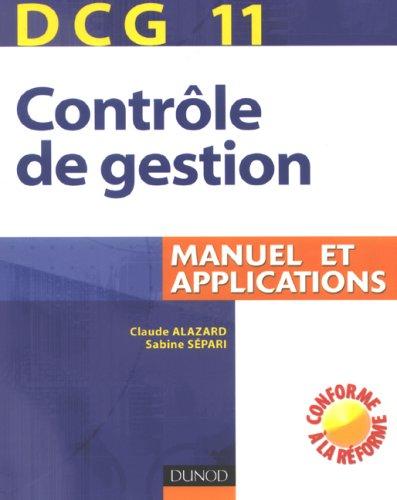 Contrôle de gestion DCG11 : Manuel et applications
