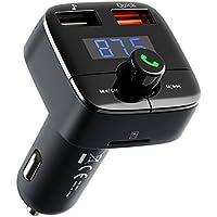[Carga Rápida 3.0] VicTsing Reproductor MP3 Mechero Coche Transmisor FM Bluetooth(V4.2) Coche Manos Libres Adaptador de Radio Dual USB QC3.0 Soporte de Tarjeta TF+U Disk para Tablet,iPhone,Samsung,MEIZU, LG-Negro