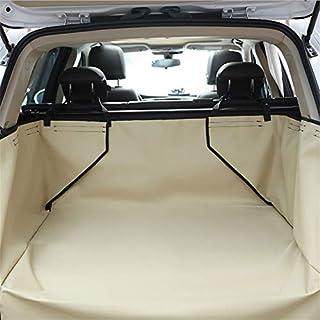 Pet Car Cover Wasserdichte Hundekofferraummatte Pet Cargo Liner Cover Kofferraum Protector Rücksitzbezug für SUV Pet Barrier,Khaki