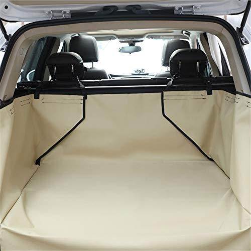 Pet Car Cover Wasserdichte Hundekofferraummatte Pet Cargo Liner Cover Kofferraum Protector Rücksitzbezug für SUV Pet Barrier,Khaki -