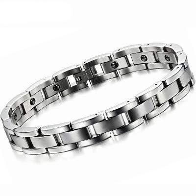 YZWD Magnetarmband Magnet Armband Armreif Gesundheit Magnettherapie Armband Arthritis Schmerzlinderung Gesundes Armband Titan Band Magnet 23 Jahre cm -