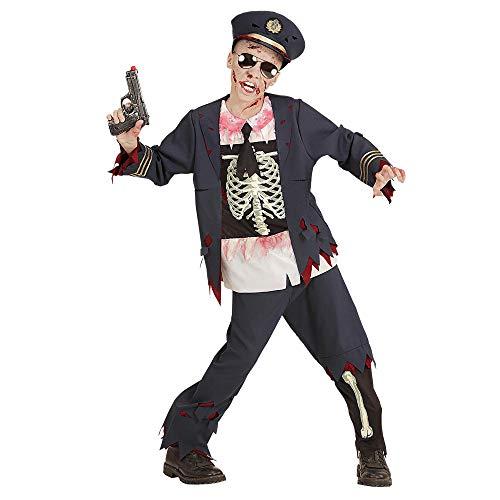 Polizist Zombie Kinder Kostüm - Widmann 07536 Kinderkostüm Zombie Polizist, boys, 128 cm