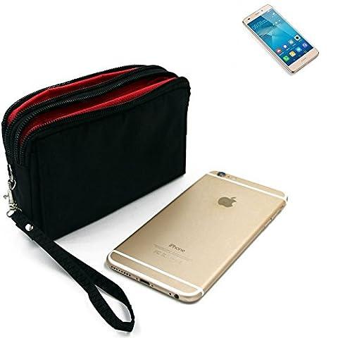 Belt Pack pour Huawei GT3, noir. Sac de Voyage, couverture protection body bag Étui housse ceinture. | Poche Outdoor Case camping - K-S-Trade