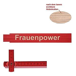 Zollstock/Meterstab Frauenpower