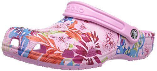crocs Clogs Classic Graphic - Carnation Candy Pink, Größe:42-43 EU -