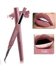 Tefamore Miss Rose Double-Fin Lining Durable Imperméable Lip Liner Stick Pencil 8 Couleur