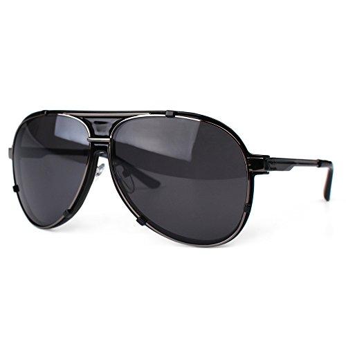 DISTRESSED Pilot Shades Xl Pilotenbrille Sonnenbrille im Aviator Style schwarz getšnt
