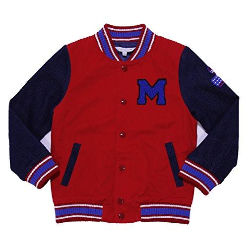 Little Marc Jacobs Bambino Bomber Rosso e blu bimateriale Mod. W26068K 2A