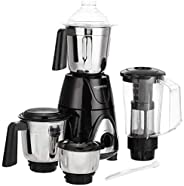 AmazonBasics Premium 750W Mixer Grinder with 3 Stainless Steel Jar + 1 Juicer Jar, Black &