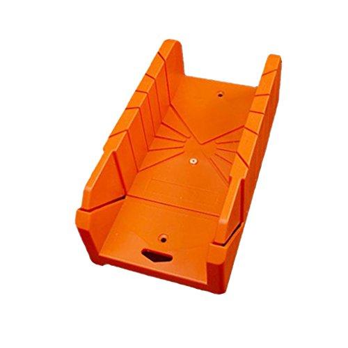 FLAMEER Gehrungsbox Schneidlade 22,5/45 / 90 Grad Winkelschnitt Holzschneidewerkzeug Gehrungslasche Gehrungsblöcke - 14 Zoll