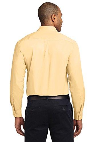 kectelly Port Authority–Camicia a maniche lunghe, di facile manutenzione Yellow