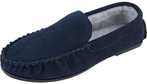 Doublure en polaire berbère Chaussettes pour homme avec semelle antidérapante résistante Bleu marine 6–12 Taupe Tailles UK Bleu - Bleu marine